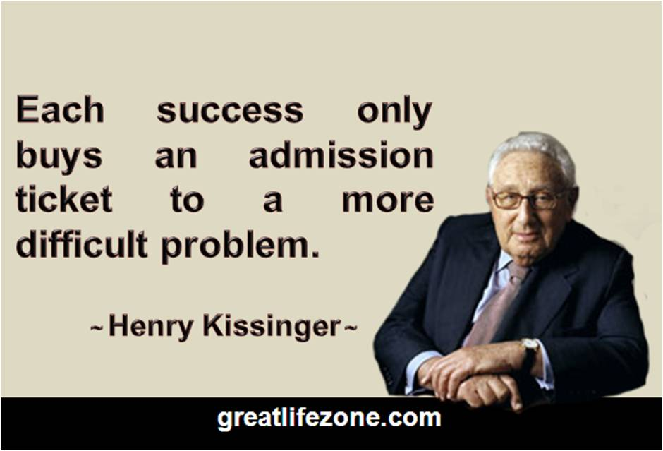 Definition of Success by Henry Kissinger